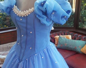 Custom made Fairytale  Cinderella ballgown  shaped corset top layered net skirt prom party evening special dress theatre stage
