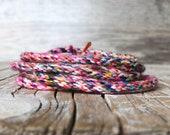 Pre Braided Cord - Handmade Cord - Jewelry making - Hippie - Bohemian