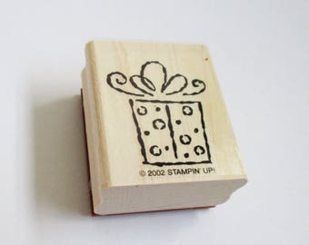 Holiday Gift Package DIY Christmas Card Making Craft Rubber Stamp Wood Mount Christmas Craft Supply Scrapbooking Stamping Cards