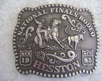 Vintage  National Finals Rodeo Hesston Belt Buckle