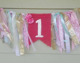 Girls 1st birthday banner for photo shoots.