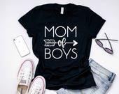 Mom Shirt, Mom of Boys, Gift For Mom, Boy Mom Shirt, Best Friend Gift, Mom Of All Boys, Mom of Boys TShirt