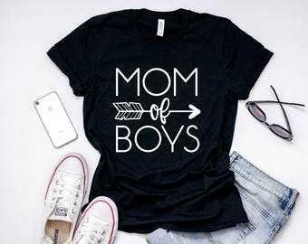 Boy Mom Shirt, Mom Of All Boys, Mom of Boys TShirt, Gift For Boy Mom