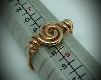 Bronze Viking swirl ring. Size uk Q.  Free shipping to UK