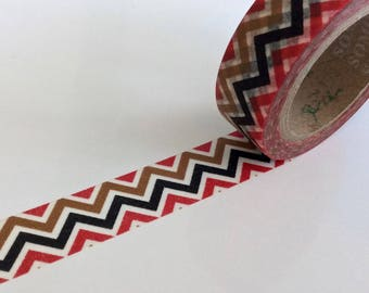 "CLEARANCE Washi Tape Chevron in 3 Colors ""Cochise"" 15mm x 10 meters"