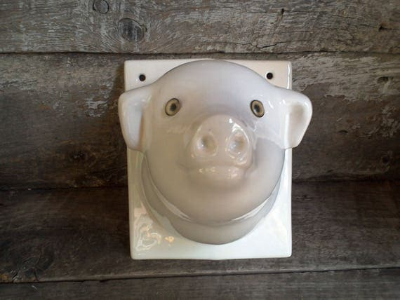 Ceramic Decorative Pig Wall Mount Holder