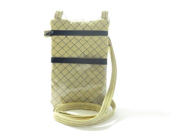 ON SALE Beige Men or Women Neck Pouch Phone Travel Case w/ Adjustable Strap and Wristlet