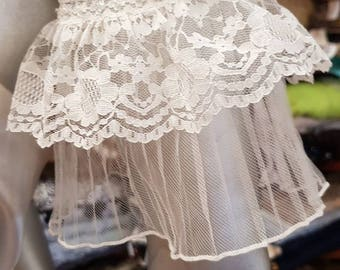 Lace sleeve,tulle lace sleeve,beaded lace sleeve.pearl beaded tulle lace pearl off shoulder separate sleeve.