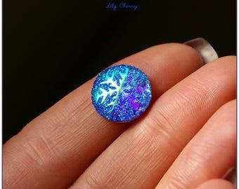 Cabochon Blue Star Spangled x 1