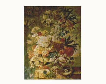 Cross Stitch Kit - Flowers - Joseph Nigg - Embroidery Kit - Needlework DIY Kit (NIGG03)