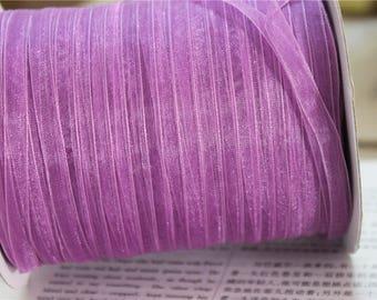 10 metres 7mm purple organza Ribbon