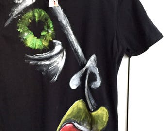 Hand painted t-shirt,  art lover, artsy tee, gift for artist, boho tee shirt