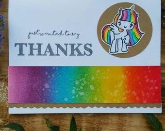 Thank You Card/ Rainbow