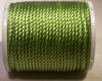 Spool of thread nylon 1 mm x 10 m lime green