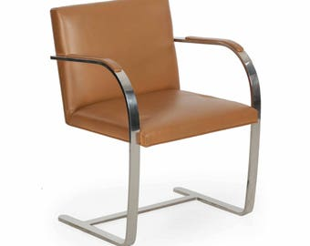 Vintage Mies van der Rohe for Knoll Leather BRNO Arm Chair