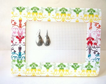 RAINBOWS FOR SLOAN support the DeRosier Family earring holder, stud earring display, jewelry holder, college dorm girl, college dorm decor