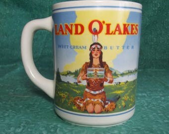 Vintage Land 'o Lakes Butter Coffee Cup