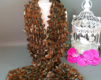 Scarf fancy Frou Frou in shades of Browns * 100 g * length 140 cm