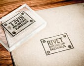 3 Custom Rubber Stamp - 2 x 2, 2.5 x 1 and 2.5 x 1 inches