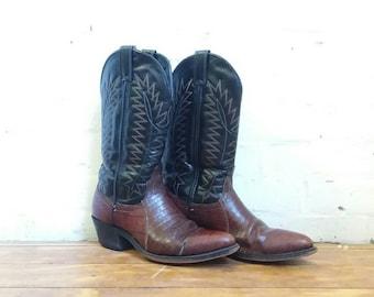 Vintage Laredo mens size 8 southwestern cowboy boots