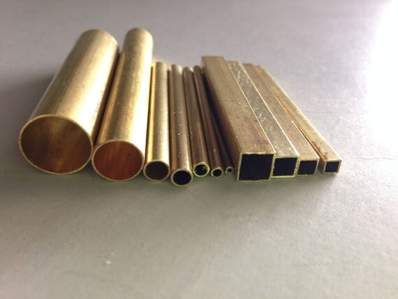 Brass tube set for making designs and impressions in clay, fondant and more this 11 pc set incluedes 7 round and 4 square tubes