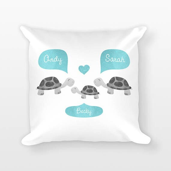 Turtle Nursery Pillow, Personalized Baby Gift, Baby Shower Gift, Nursery Decor, Pillow for Kids Room Decor, Animal Nursery Throw Pillow