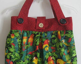 Tropical Parrot Handbag/Purse/Tote