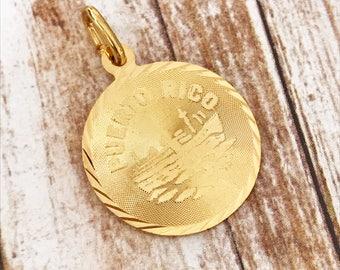 5773 Puerto Rico Pendant, Puerto Rico Jewelry, Puerto Rico Charm,Puerto Rico Charms,Gold Filled Puerto Rico Pendant,PR Pendants,PR Charm,PR