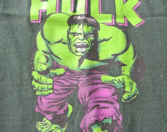 Vintage Tee Incredible Hulk T Shirt Marvel Cotton Tee Shirt