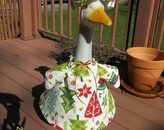 Goose Dress - Christmas Trees on Vinyl