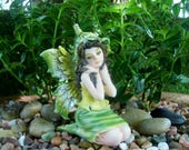 Green Garden Fairy - Fairy Garden - Miniature Gardening - Indoor Gardening - Home Decor - Figurine