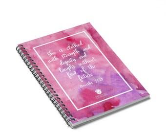 Proverbs Woman Spiral Notebook, Virtuous Woman Prayer Journal, Dream Journal