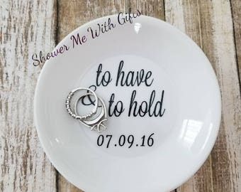 Personalized Ring Dish / Jewelry Dish / Engagement Gift / Personalized Bridal Party Gifts / Personalized Jewelry Dish / Wedding Gifts
