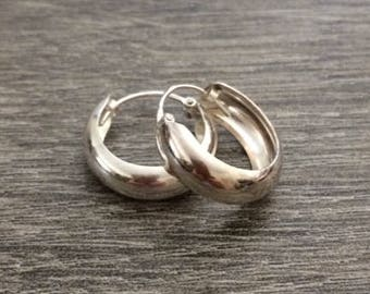 Small Sterling Silver Hoops, Hoops, 925 Sterling Silver Earring