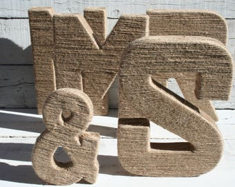 Jute Wrapped Letters | Yarn Wrapped Letters | Nursery Letters | Nursery Decor | Wedding Decor | Wedding Letters | Wall Letters