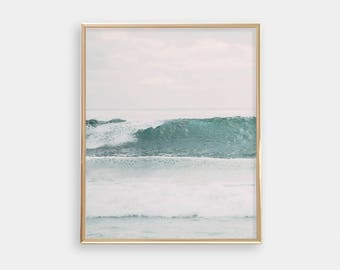 Ocean Surf PRINTABLE Wall Art - Beach Print - Minimalist - Modern Nursery Decor - Apartment Decor - Digital Art - Waves - SKU:3079