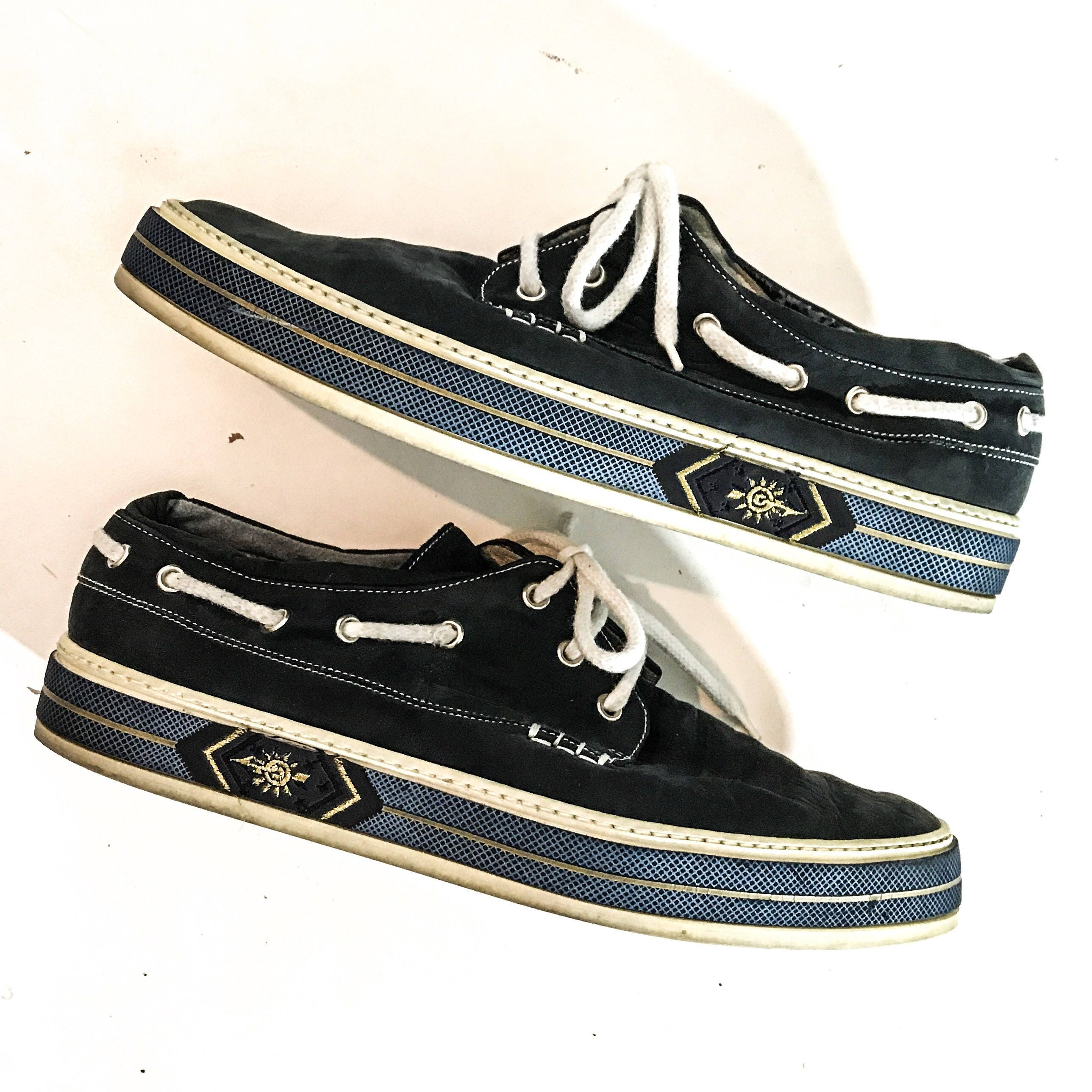 Bally Shoes Blue Suede Vintage
