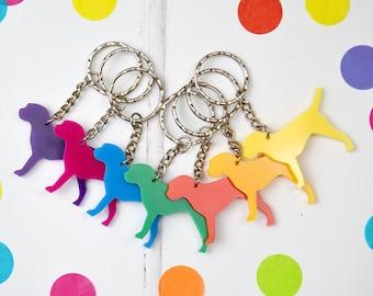 Dog key ring - border terrier key ring - key chain for dog lover - dog owner's key ring - dog shaped keyring -  gift for a dog owner