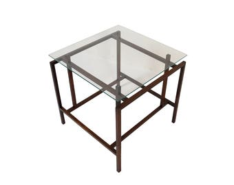 Henning Norgaard for Komfort Side Table Rosewood and Glass side table