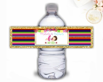 Fiesta baby Shower Water Bottle Labels, Muchachita, Senorita, Water bottle Labels, Mexican Fiesta Water Bottle Labels, Fiesta Baby Shower