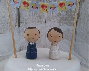 peg doll wedding cake toppers uk custom cake toppers amp wooden peg dolls by peggielane 18184