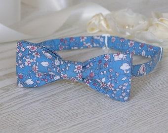 Bow Tie Blue Floral   BowTie Light Blue  Alaskan Blue Classic Bow Tie Wedding Bow Tie