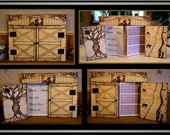 Barn Wedding guest book,Barn Wedding,Wedding Guest book,Rustic Wedding, rustic wedding, Wedding Guest Book, farm theme wedding, Wood Book