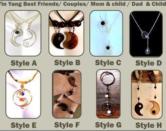 yin yang jewelry,Yin Yang,March birthday gift,mother daughter jewelry,Yin yang gifts,ying yang necklace SET,,zen jewelry,healing jewelry,