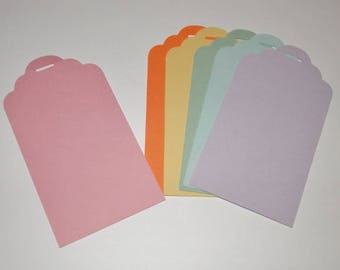 Gift Tag Die Cut Blank 4 inches 25 piece set you choose quantity and color