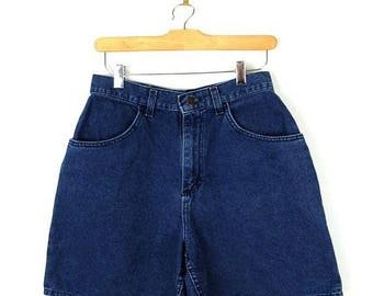 ON SALE Vintage Dark Blue Denim Shorts from 90's/W26*