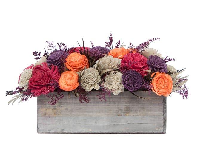Bold Arrangement - Ships FREE, Sola Flower Fall Arrangement, Keepsake Fall Bouquet