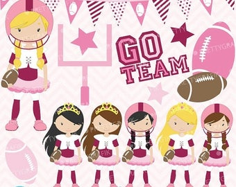 80% OFF SALE football and tutus clipart commercial use, vector graphics, digital clip art, digital images - CL578