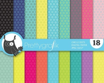 80% OFF SALE Circle polka dot digital paper, commercial use, scrapbook papers, background - PS645