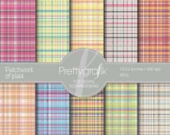 80% OFF SALE plaid digital paper, commercial use, scrapbook papers, background - PS508